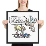 Angel Hound Darby Framed poster - The Bloodhound Shop