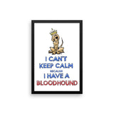 Keep Calm Hound Framed poster