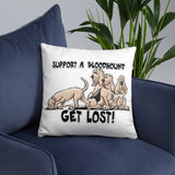 Get Lost 2019 Basic Pillow - The Bloodhound Shop