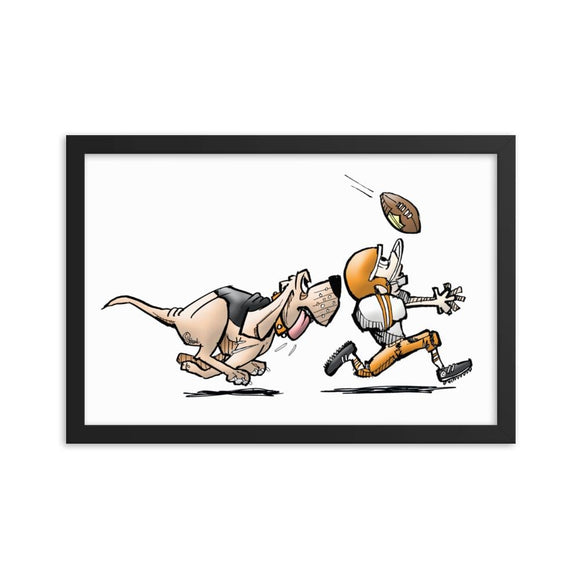 Football Hound Browns Framed poster - The Bloodhound Shop
