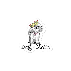 Maltese- Dog Mom FBC Bubble-free stickers - The Bloodhound Shop