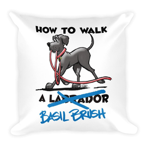 Tim's How to Walk Basil Brush Square Pillow - The Bloodhound Shop