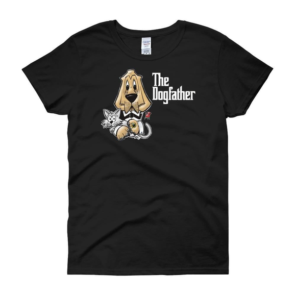 The Dogfather Women's short sleeve t-shirt - The Bloodhound Shop
