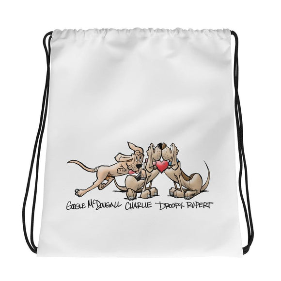Tim's Wrecking Ball Crew Heart Hound Drawstring bag - The Bloodhound Shop