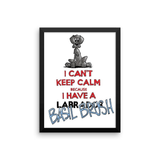 Tim's Keep Calm Basil Framed poster - The Bloodhound Shop