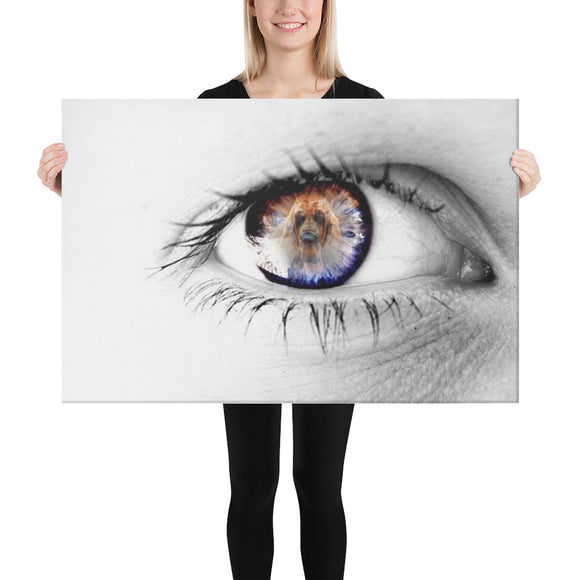 Eye of the Hound Canvas by Margarita - The Bloodhound Shop