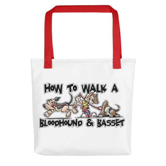 How to Walk a Basset and a Bloodhound Tote bag - The Bloodhound Shop