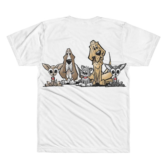 Blood is Thicker Lineup All-Over Printed T-Shirt | The Bloodhound Shop