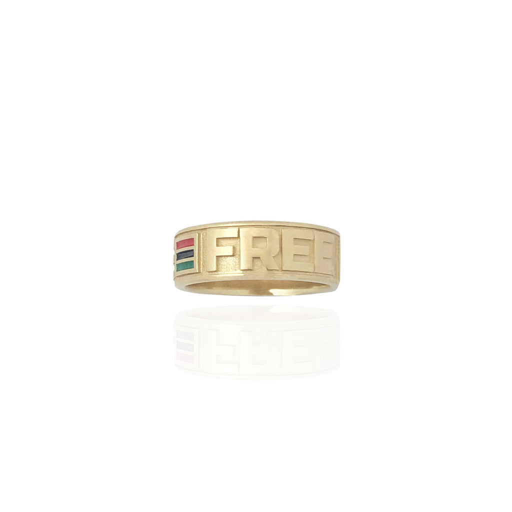 Bague en or jaune Live & Free Special Make (14K)