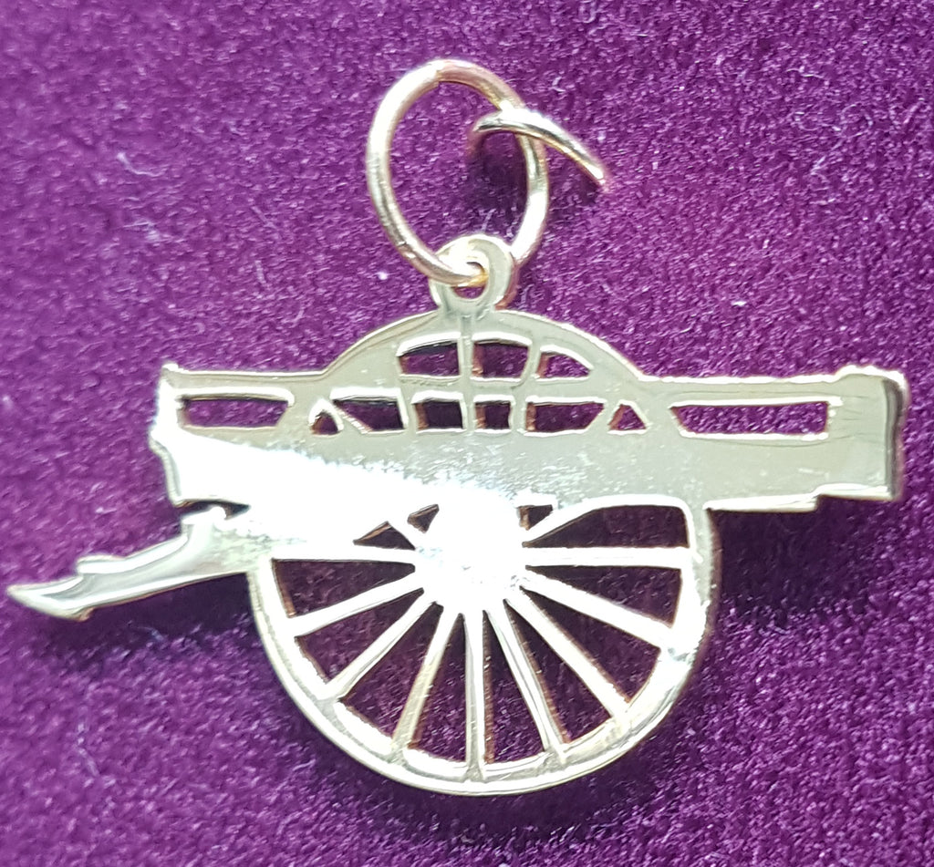 Custom Made 14 Karat Gold Cannon Logo Pendant untuk Brigade USA - Popular Jewelry
