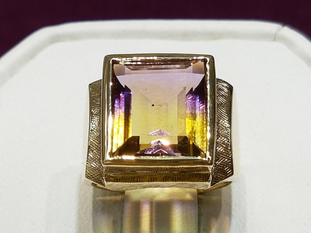 Emerald-cut-ametrine-ring-14 karat-gold-cynthia-rowley