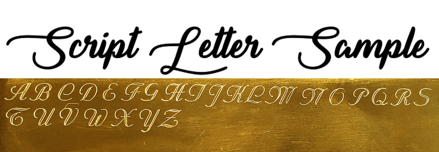 Script Letter Engraving Sample