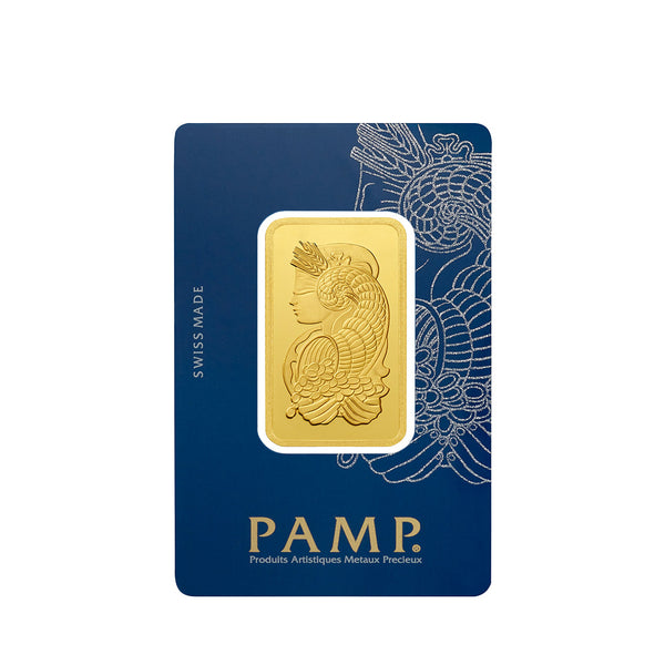 1 oz PAMP Suisse Lady Fortuna Gold Bar 24K