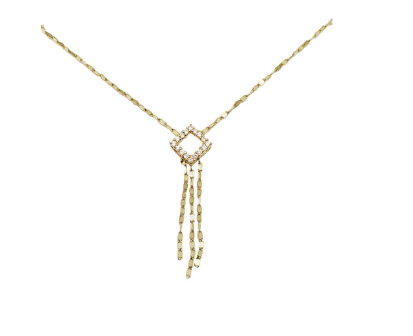 Gemstone Core [Circle] Tassel Fancy silsilad (14K)