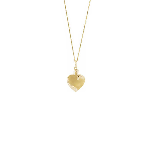 Heart Ash Holder Necklace (10K) front - Popular Jewelry - New York