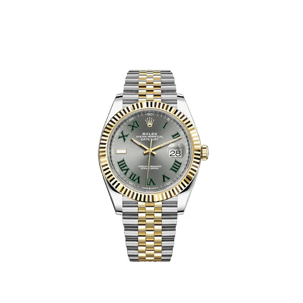Rolex Datejust 41mm Two Tone Jubilee Bracelet Fluted Bezel Slate Dial