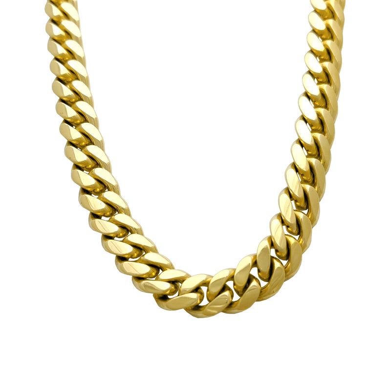 Solid Miami-Cuban Link Chain (14K Yellow Gold) - Lucky Diamond 恆福珠寶金行 New York City 169 Canal Street 10013 Jewelry store Playboi Charlie Chinatown @luckydiamondny 2124311180