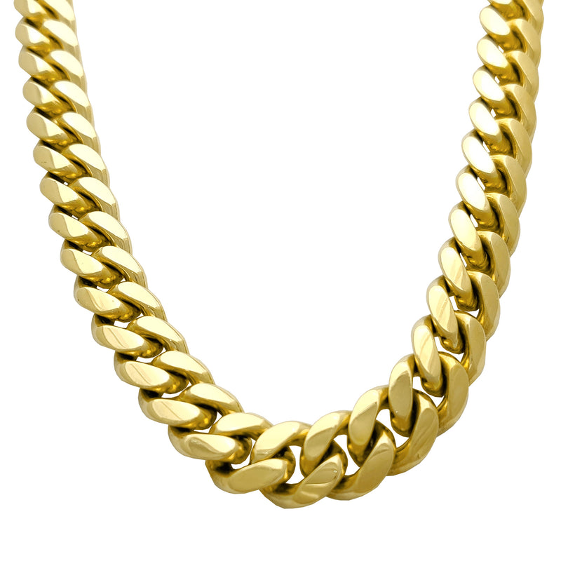 Solid Miami Cuban link 14K Yellow Gold - Lucky Diamond 行 珠寶 金 行 New York City 169 Canal Street 10013 Klenotnictví Playboi Charlie Chinatown @luckydiamondny 2124311180