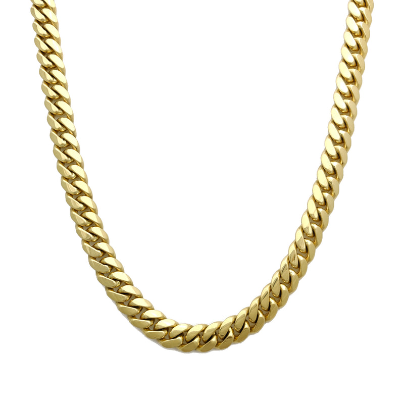 Solid Miami Cuban link 14K Yellow Gold - Lucky Diamond 恆福珠寶金行 New York City 169 Canal Street 10013 Jewelry store Playboi Charlie Chinatown @luckydiamondny 2124311180