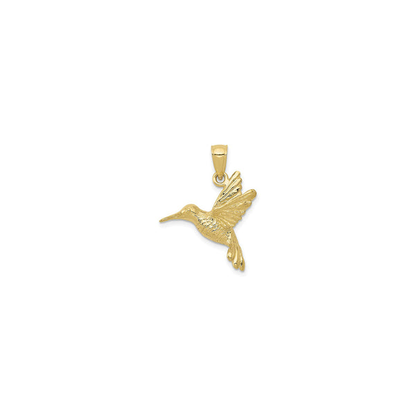 3D Hummingbird Pendant (14K) front - Popular Jewelry - New York