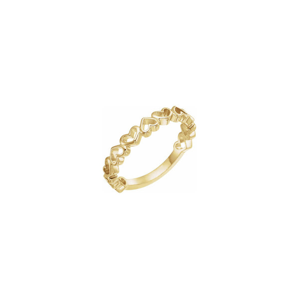 Alternating Heart Contours Ring yellow (14K) main - Popular Jewelry - New York