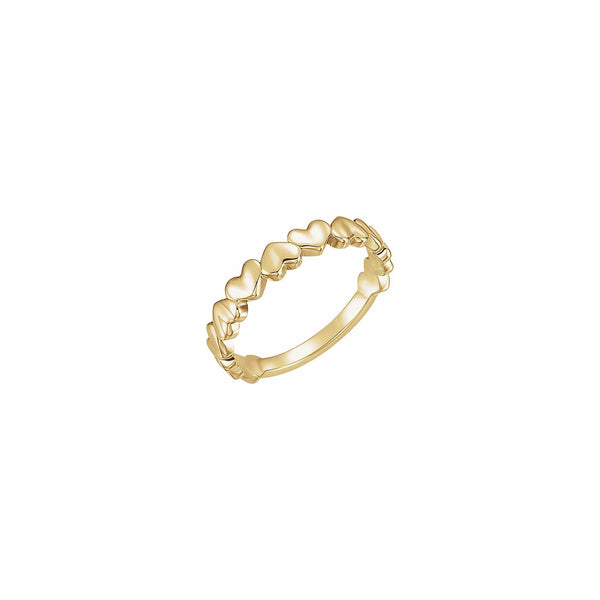 Alternating Hearts Ring yellow (14K) main  - Popular Jewelry - New York