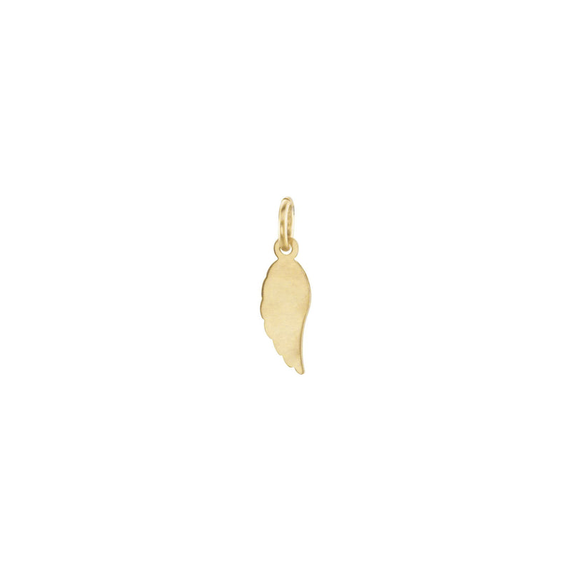 Angel Wing Charm yellow (14K) back - Popular Jewelry - New York