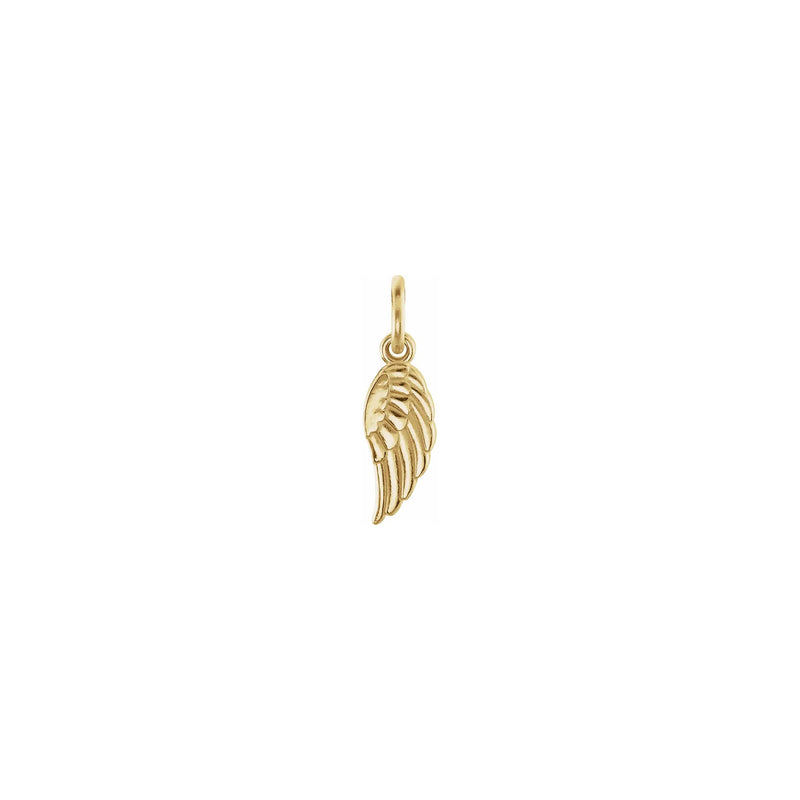 Angel Wing Charm yellow (14K) front - Popular Jewelry - New York
