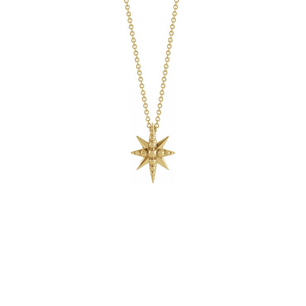Beaded Starburst Necklace yellow (14K) front - Popular Jewelry - New York