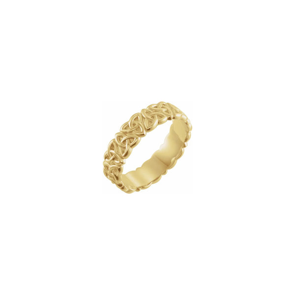 Celtic-Inspired Trinity Eternity Ring yellow (14K) main - Popular Jewelry - New York