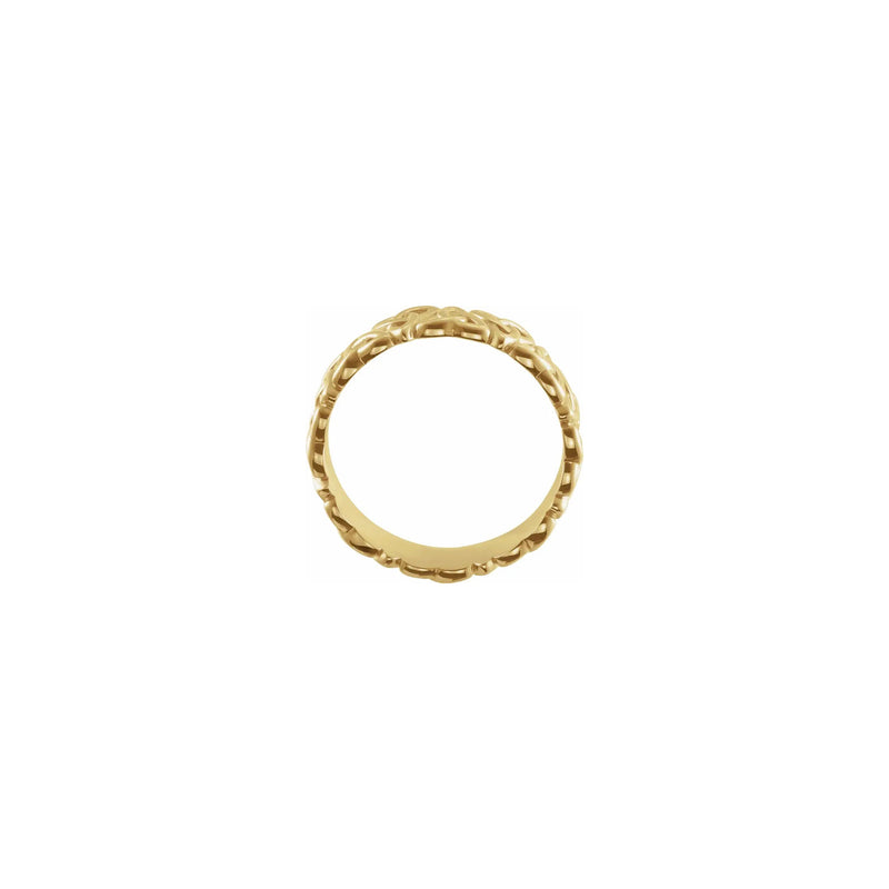 Celtic-Inspired Trinity Eternity Ring yellow (14K) setting - Popular Jewelry - New York