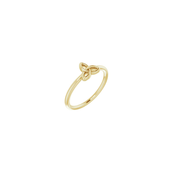 Celtic-Inspired Trinity Stackable Ring yellow  (14K) main - Popular Jewelry - New York