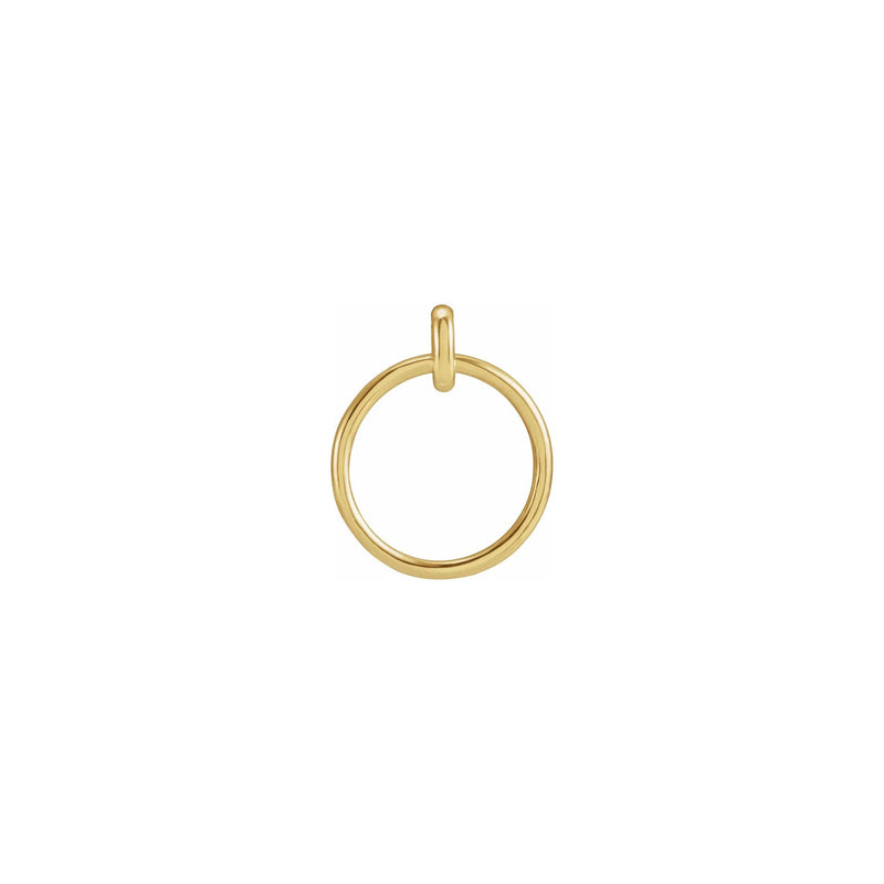 Circle Pendant yellow (14K) front - Popular Jewelry - New York