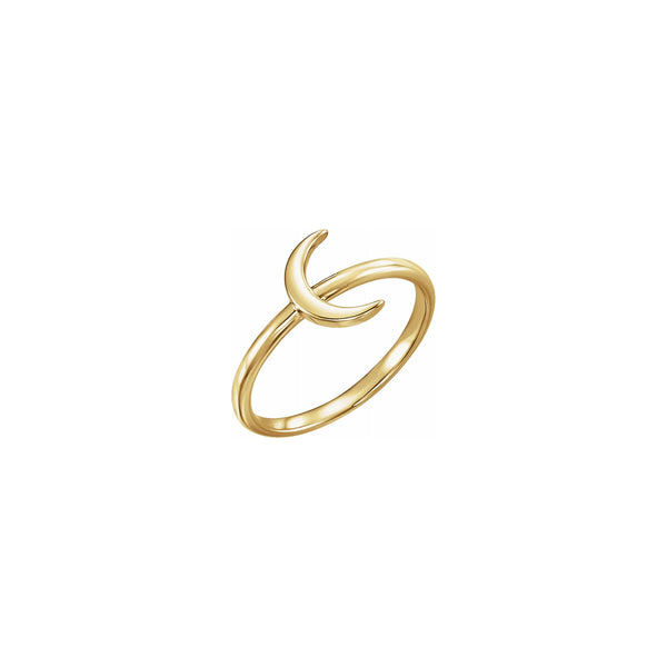 Crescent Moon Stackable Ring yellow (14K) main - Popular Jewelry - New York