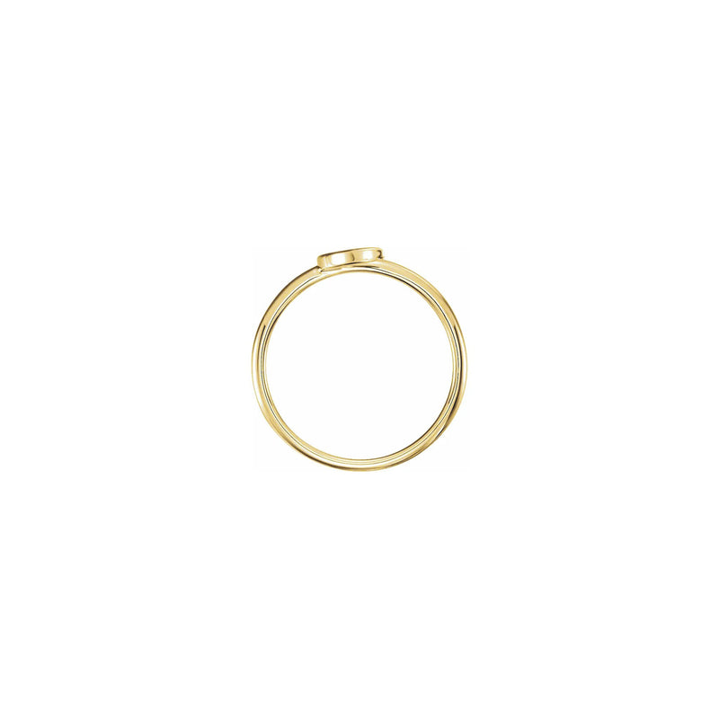 Crescent Moon Stackable Ring yellow (14K) setting - Popular Jewelry - New York