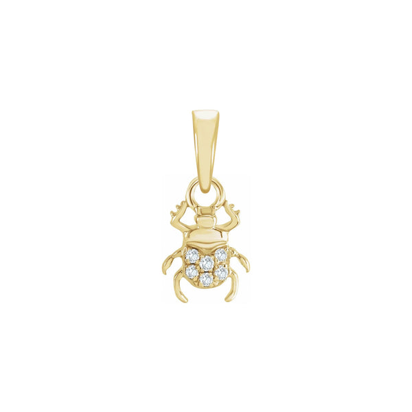 Diamond Bettle Pendant yellow (14K) front - Popular Jewelry - New York