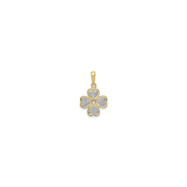 Diamond Incrusted Four Leaf Clover Pendant (14K) front - Popular Jewelry - New York