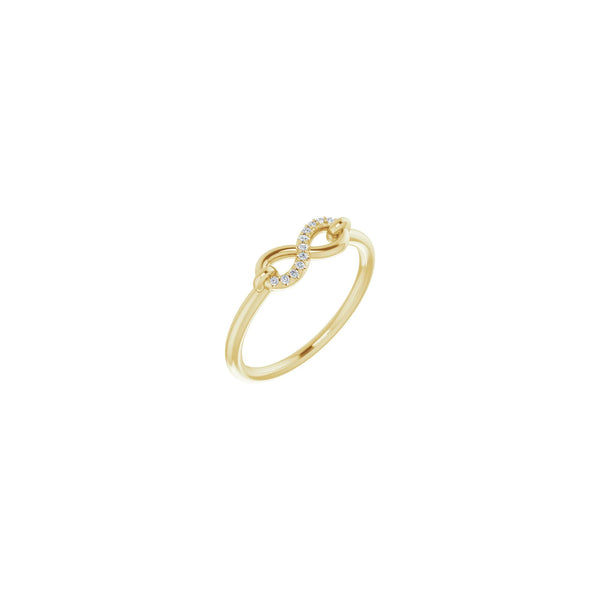 Diamond Semi-Accented Infinity Ring yellow (14K) main - Popular Jewelry - New York