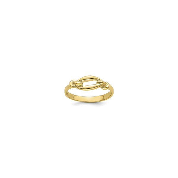 Elongated Link Freeform Ring (14K) main - Popular Jewelry - New York