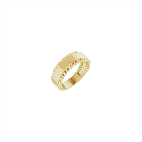 Engravable Beaded Ring yellow (14K) main - Popular Jewelry - New York