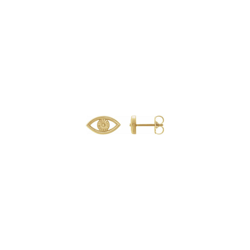 Evil Eye Contour Stud Earrings yellow (14K) main - Popular Jewelry - New York