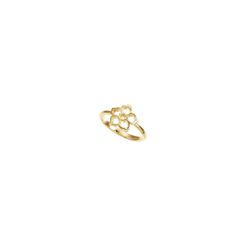 Forget Me Not Flower Ring yellow (14K) diagonal - Popular Jewelry - New York