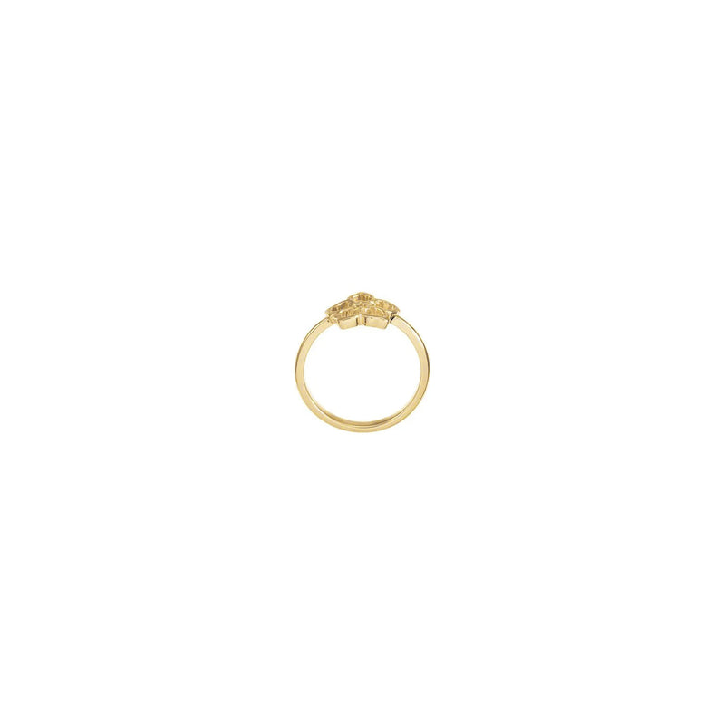 Forget Me Not Flower Ring yellow (14K) setting - Popular Jewelry - New York