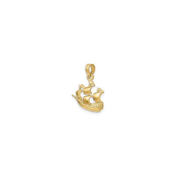 Four Sail Cruising Ship Pendant (14K) main - Popular Jewelry - New York