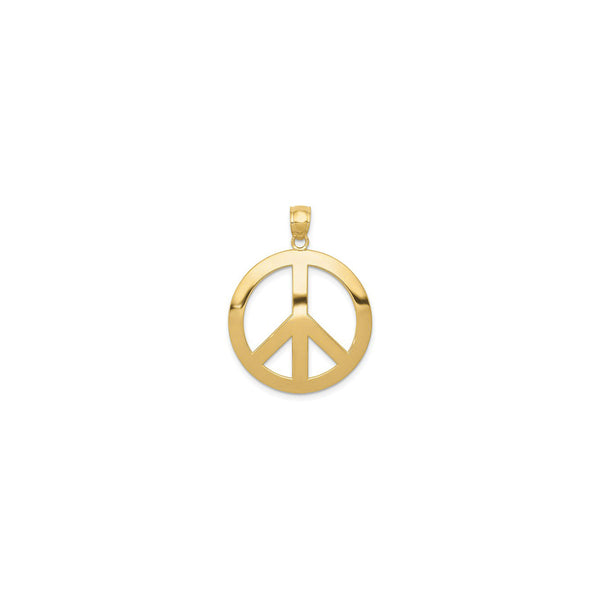Golden Peace Symbol Pendant (14K) front - Popular Jewelry - New York