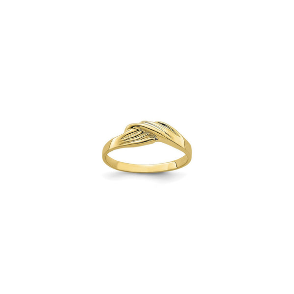 Grooved Freeform Ring (14K) front - Popular Jewelry - New York