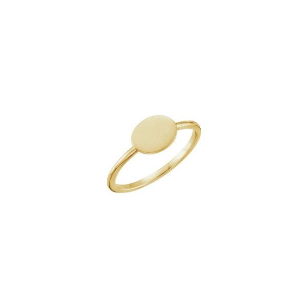 Horizontal Oval Stackable Signet Ring yellow (14K) main - Popular Jewelry - New York