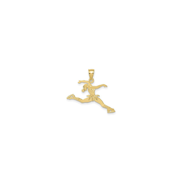 Jumping Ice Skater Pendant (14K) front - Popular Jewelry - New York