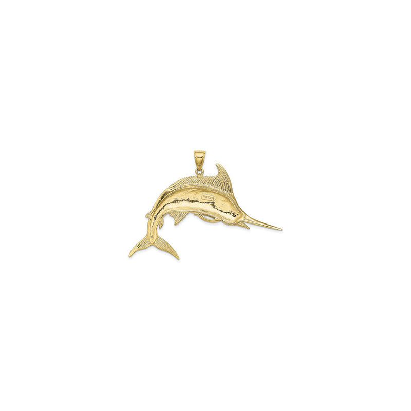 Jumping Marlin Fish Pendant Large (14K) back  - Popular Jewelry - New York