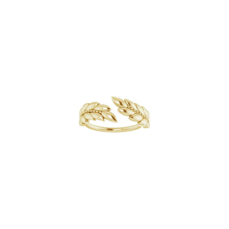 Laurel Wreath Ring yellow (14K) front - Popular Jewelry - New York